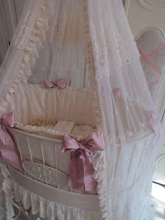 Angela Lace: Sweet Wrought Iron Baby Bed