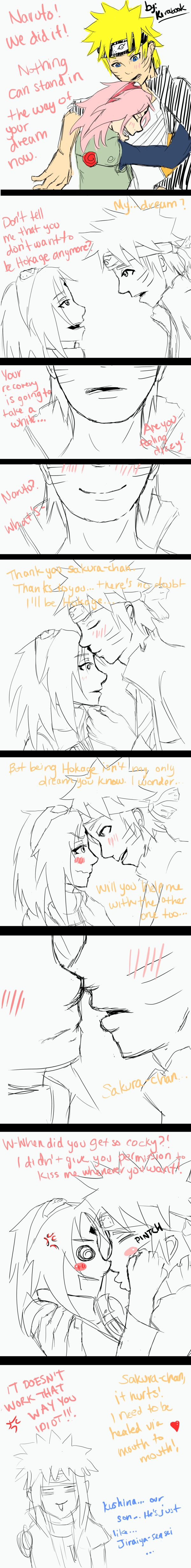 NaruSaku - The Kiss by Kirabook.deviantart.com on @deviantART