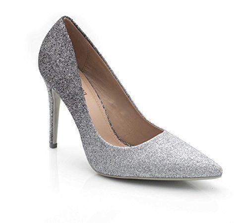 85e6029a42704 Fashion Shoes - Escarpin Femme maruage Effet Paillete/Chaussures ...