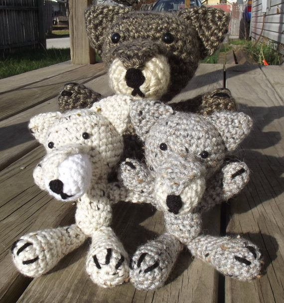 Amigurumi Big Bad Wolfie  Any Color by CraftCoalition on Etsy