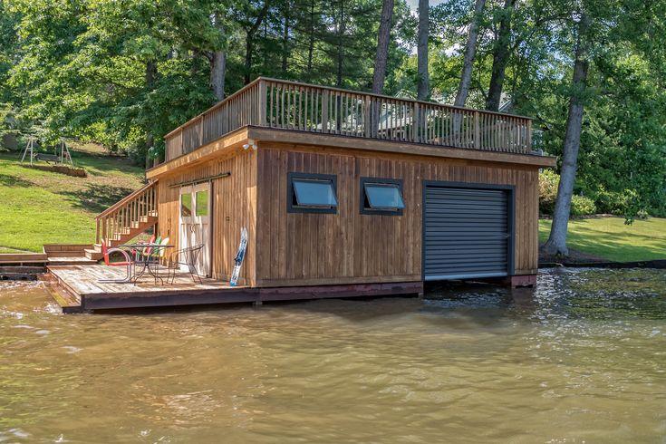 Custom boat house on lake lanier sc lakefront living
