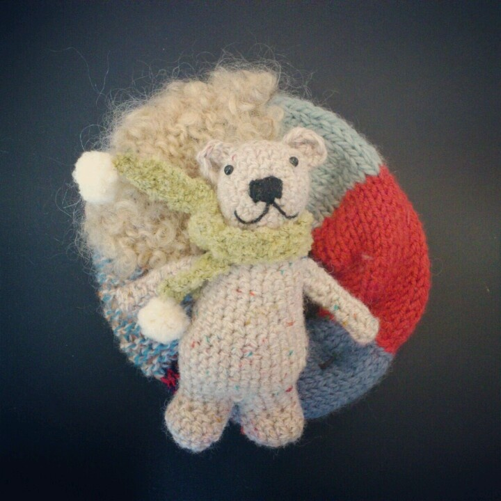 Sakuが欲しがったので初めてのキット。編みぐるみ苦手だなあ。