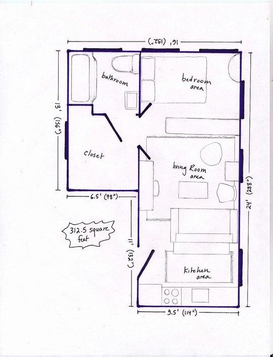 33 best plantas de casas images on pinterest plants floor plans and small apartments - Room apartment layouts ...