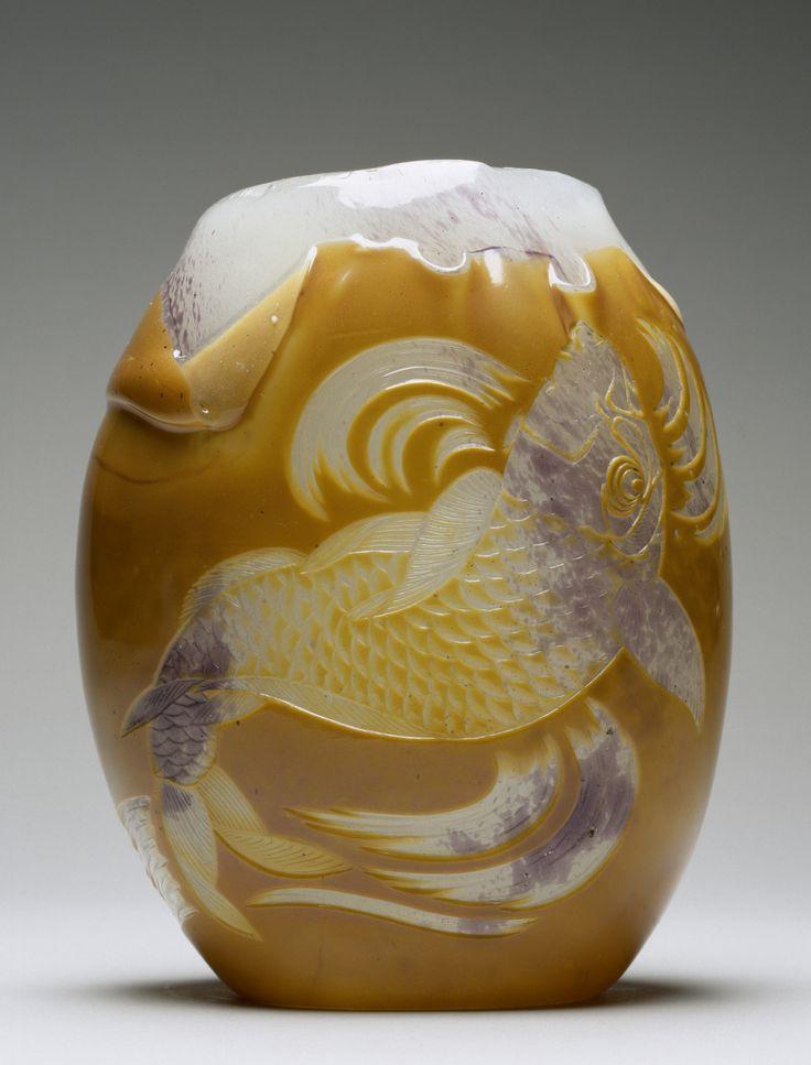 Appert Frères - Carp Vase, 1878-1884