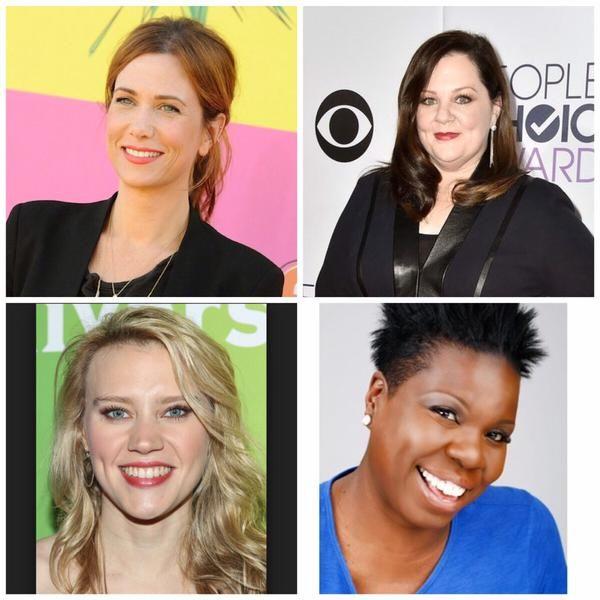 Kristen Wiig, Melissa McCarthy, Kate McKinnon, and Leslie Jones to Star in All-Female Cast of 'Ghostbusters' Reboot