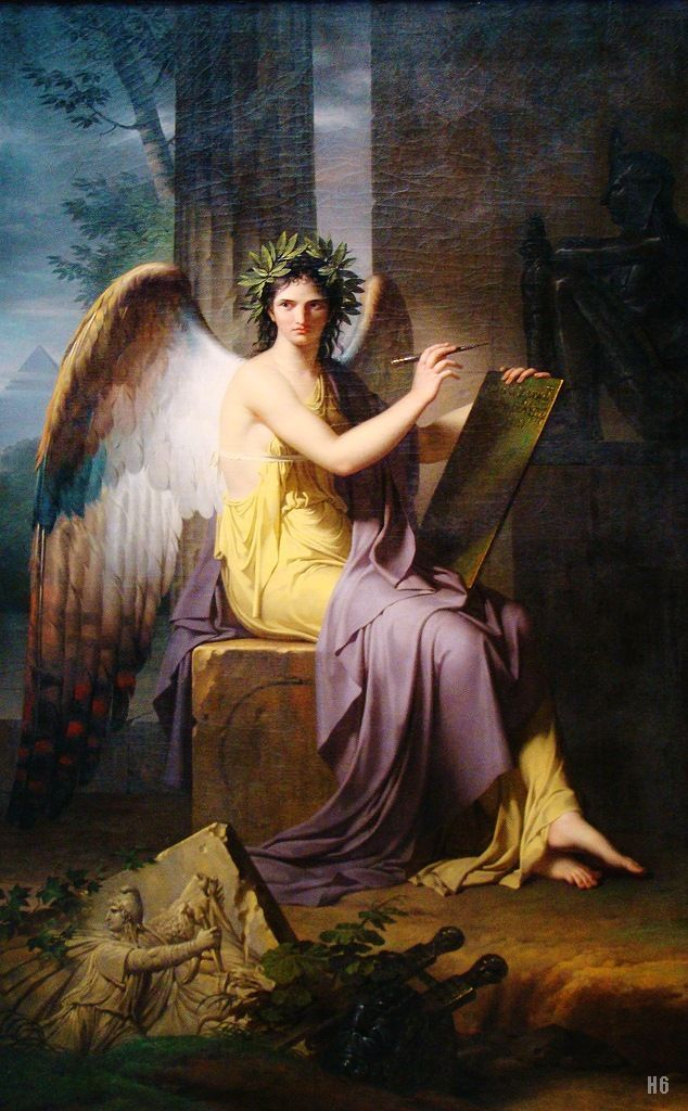 Clio - Muse of History. 1800. Charles Meynier. French. 1763-1832. oil on canvas.: