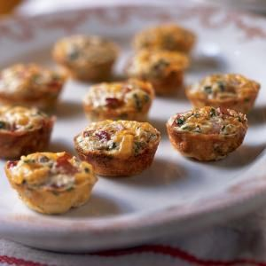 Bake these bite-sized frittatas in a miniature muffin pan. They taste great hot or at room temperature, so you can make them in advance.