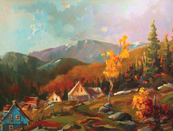 Clarence bourgoin artiste peintre canadien art pinterest for Artiste peintre anglais