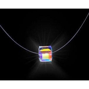 Funky.: Cube Firejewel, Firejewel Necklace, Glowing Necklace, Swarovski Crystal Necklace, Swarovski Crystals, Jewelry, Glowing Crystal, Glowing Swarovski