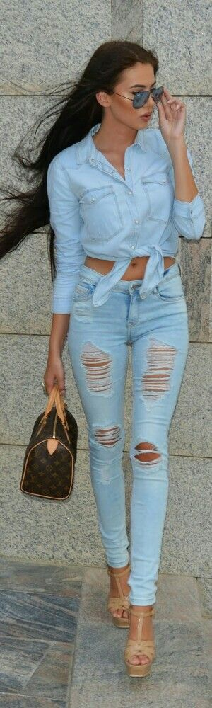 Denim on Denim / Fashion by Laura Badura