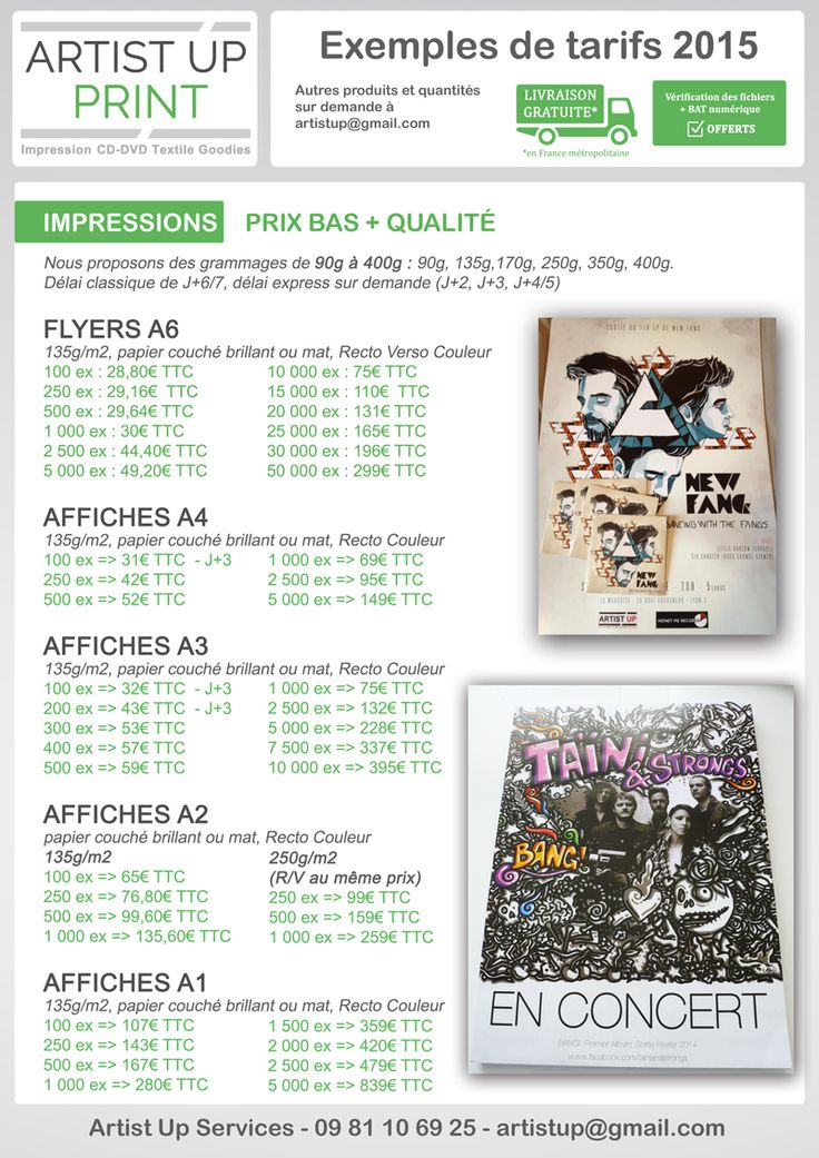 Artist UP - SERVICES | Impression - Pressage CD - Vinyle - Textiles - Goodies