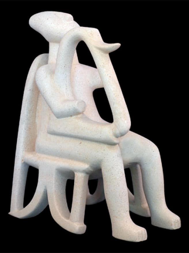 Harpist of Keros Cycladic Art Museum Replica
