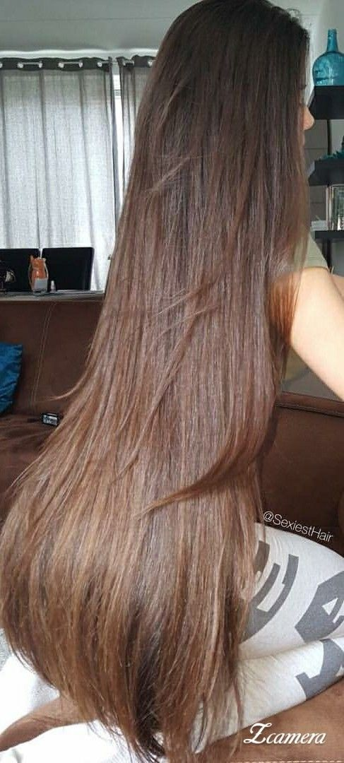 Gorgeous Long Hair Beautiful Medium Brown Brunette Very