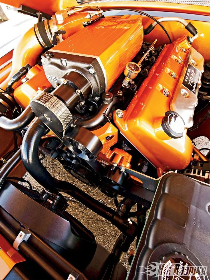 This custom KB blown '04 Cobra motor looks right at home in the engine bay of this '67 fastback.