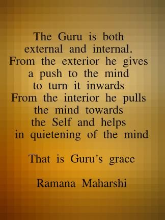 The Guru - Ramana Maharshi