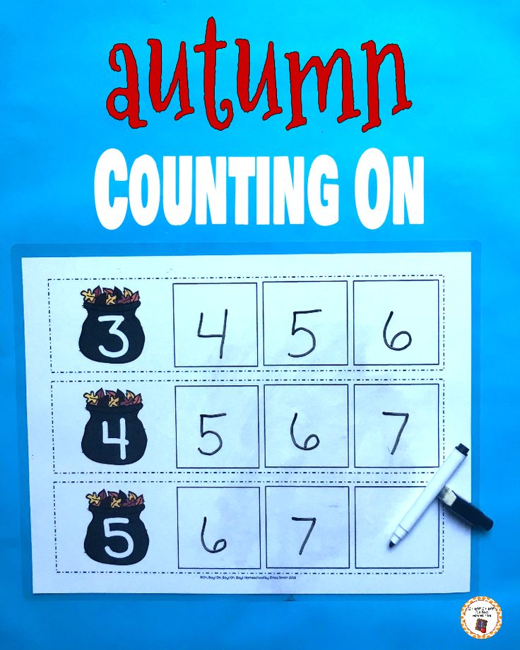 Your kindergartners will love working on number order with these fun and engaging autumn/fall themed counting on strips!