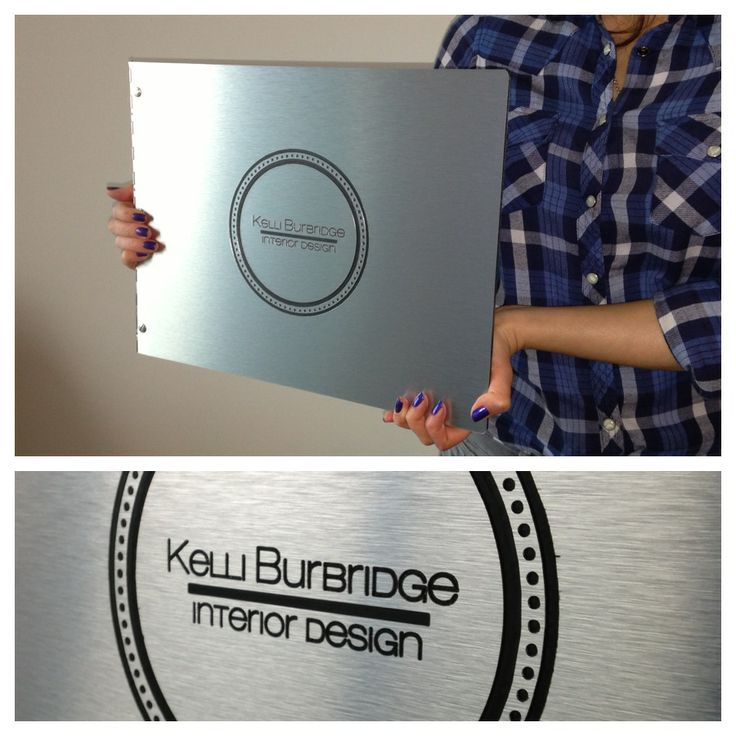 Custom Portfolio Book In Brushed Silver With Engraving Treatment