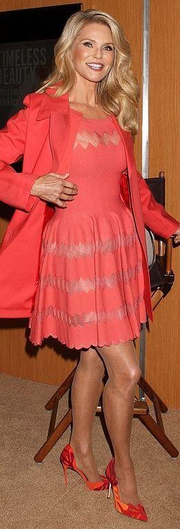 Christie Brinkley in Alaia