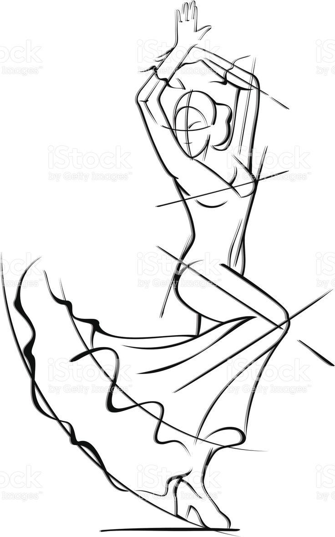 Bailarina de Flamenco illustracion libre de derechos libre de derechos