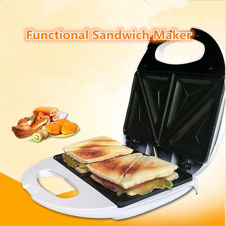 Mini Multifunción Automático Tostadora Máquina de Desayuno Sandwichera antiadherente Eléctrica Máquina Hamburguesa