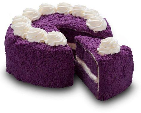 Purple cake- this is so fluffy looking it almost doesn't look like a real edible cake. It looks like terry cloth.