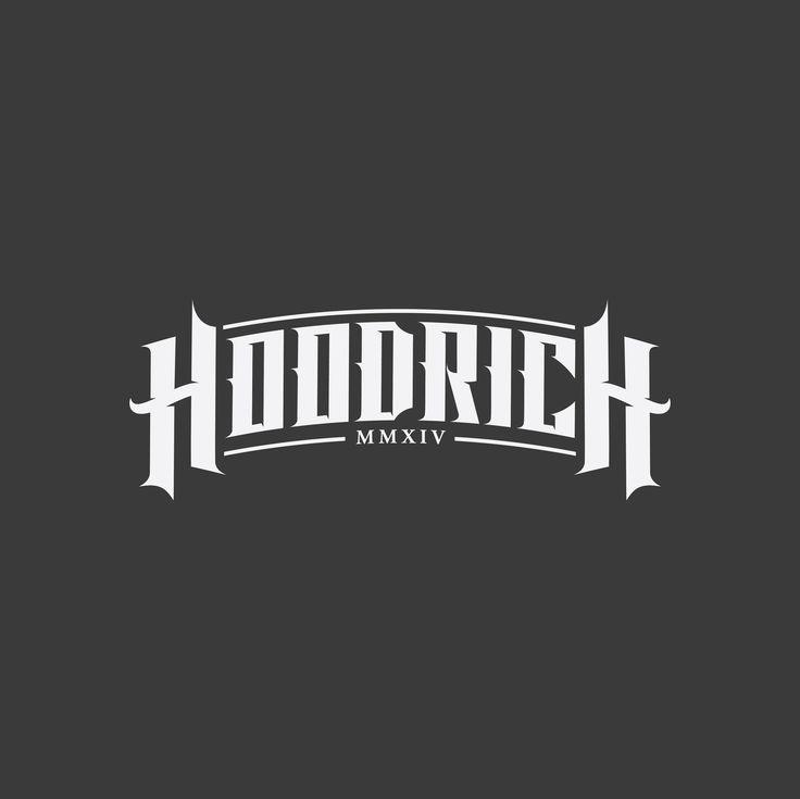 Hoodrich Logo Design Typography Logotype Logo Design