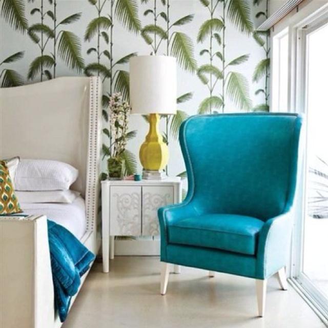 Bedroom inspiration, Hollywood regency style...accent color for Princeton Jr. League Designer House!