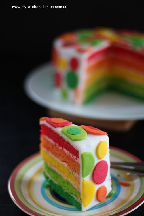 Rainbow cake and how I excited the neighbours