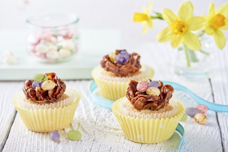 Babeczki czekoladowe gniazdka wielkanocne. Poznaj przepis - kliknij w zdjęcie! #wielkanoc