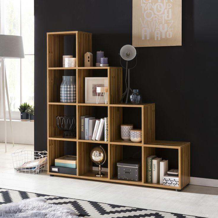 Wohnling Stufenregale WL5.162 Buche #Raumteiler #Einrichtung #Möbel  #Wohnzimmer #Schlafzimmer
