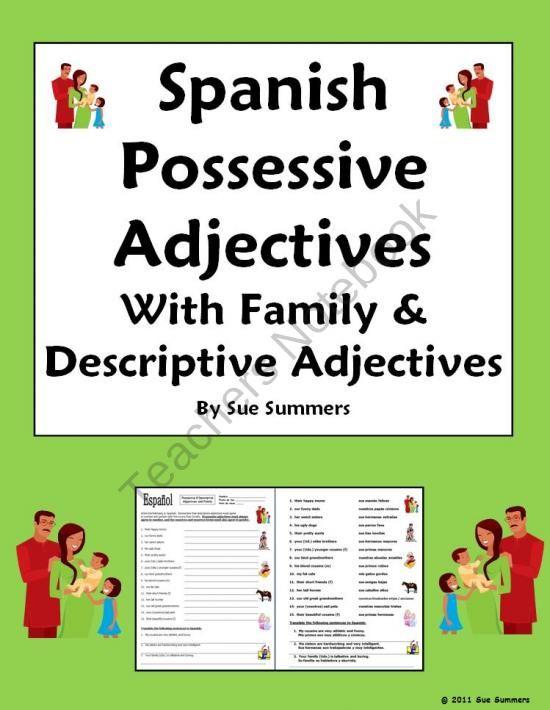 Spanish Adjectives Lesson Plan | Study.com