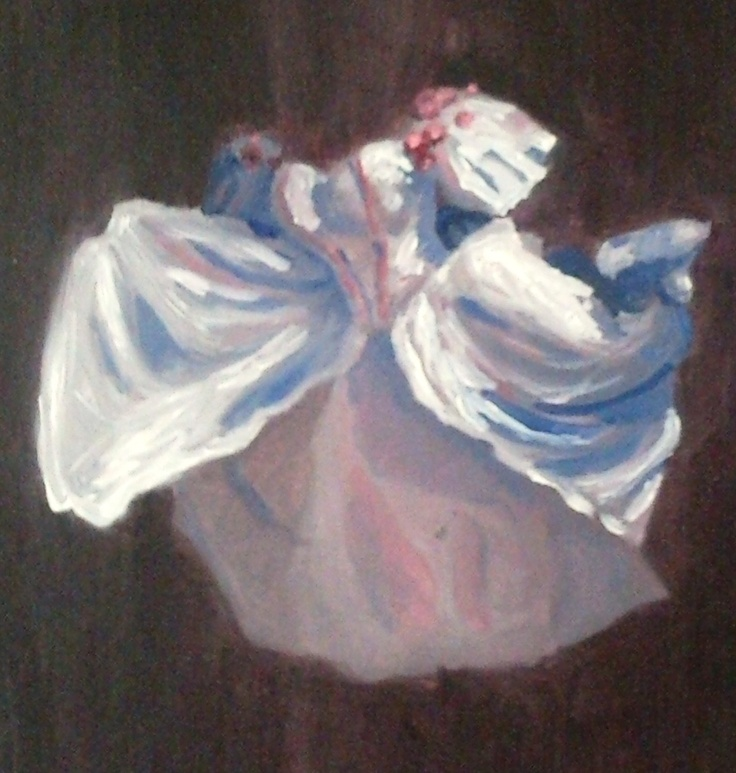 White Dress - Original 9x12 Oil Painting. $35.00, via Etsy.