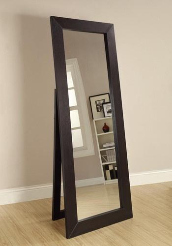 Black Contemporary Full Length Floor Mirror | eBay