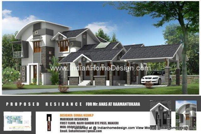 Beautiful Houses Pictures Of Kerala 2222 Sqft Floor Plan
