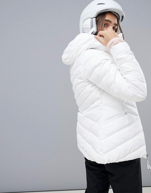 366d529ff1797 The North Face | The North Face Womens Moonlight Down Jacket in White |  Design portfolio in 2019 | Jackets, Latest fashion clothes, Down ski jacket