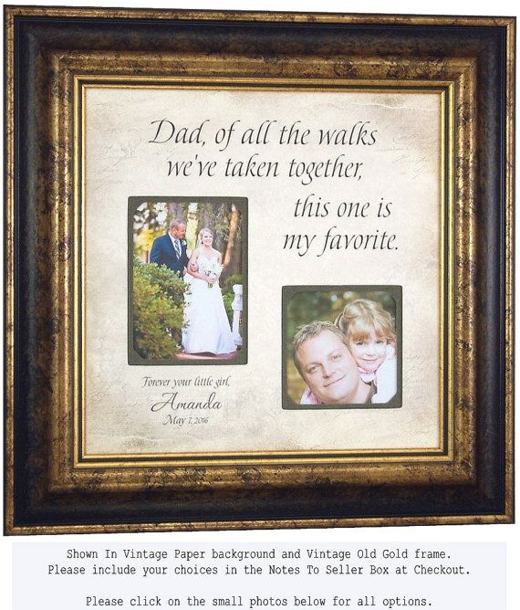 Wedding Gift for Dad Daddy Father of the by PhotoFrameOriginals