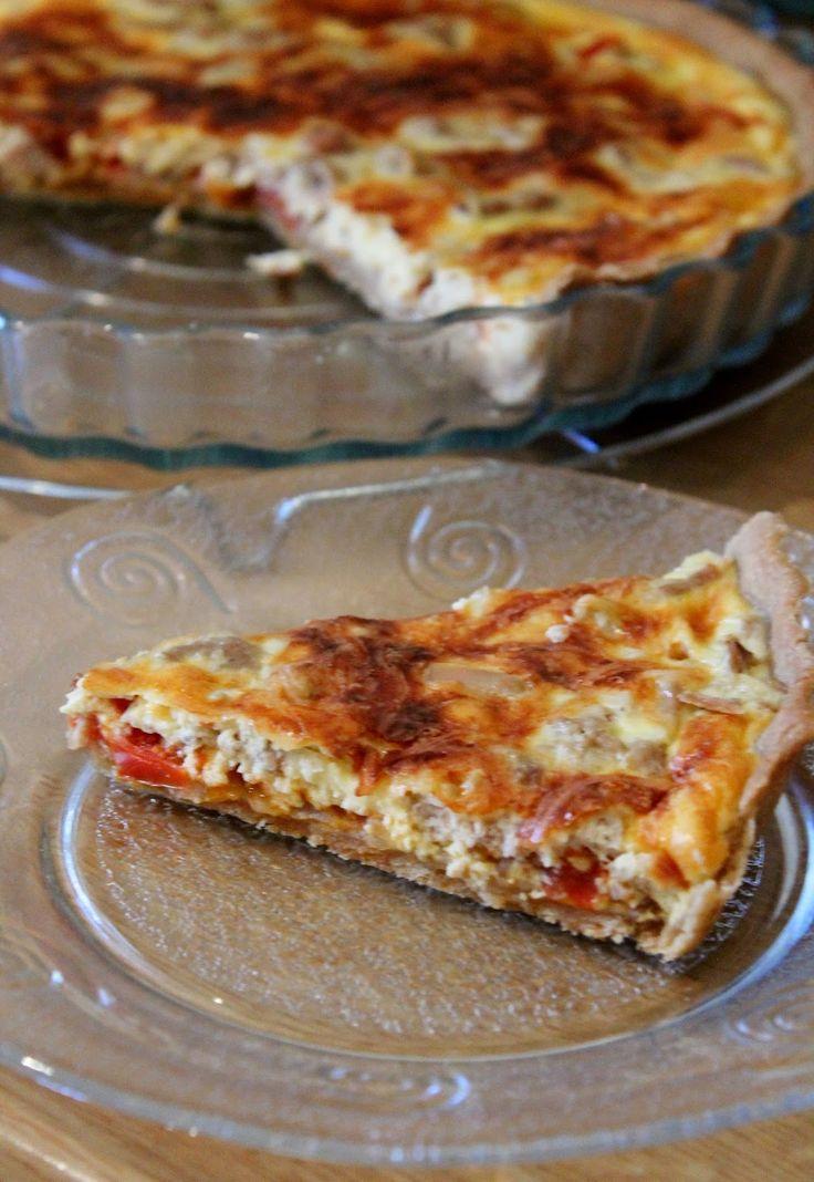 Une pipelette en cuisine: Tarte au thon et à la tomate