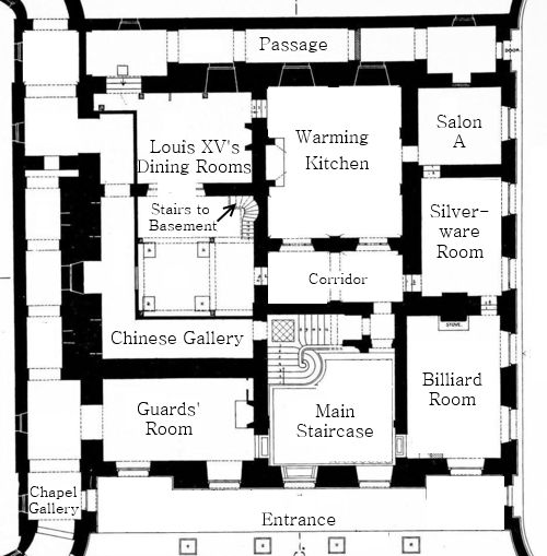 Originally built by after the plans of madame de pompadour for Trianon plan salle
