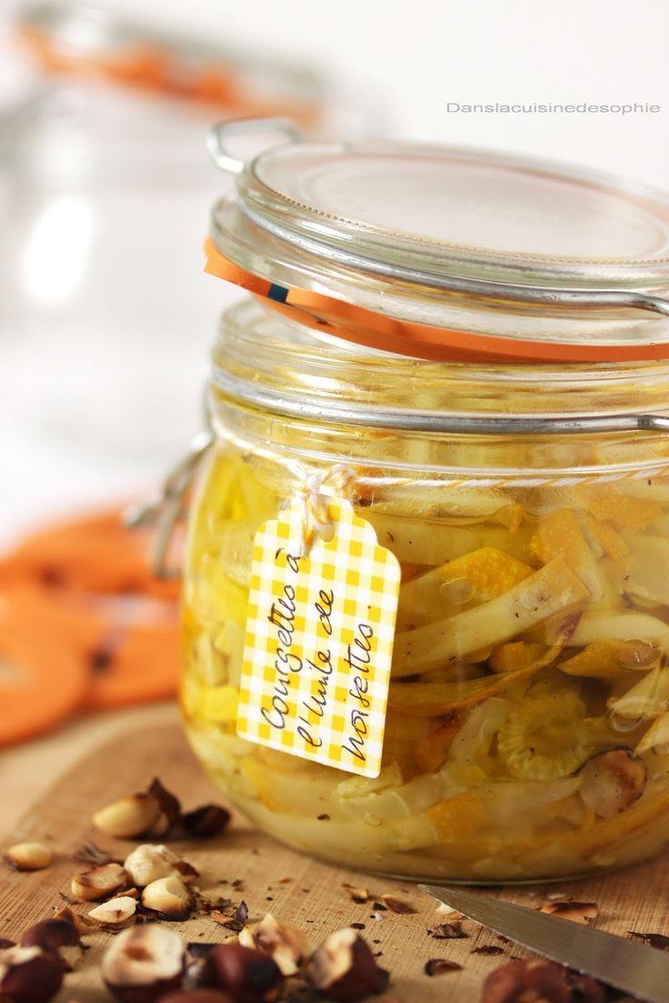 Dans la cuisine de Sophie: Bocaux de courgettes à l'huile de noisette