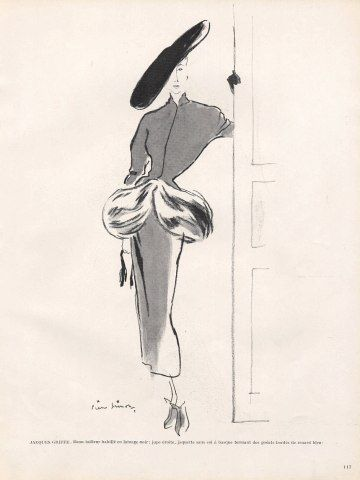 Jacques Griffe 1948 Pierre Simon Fashion Illustration