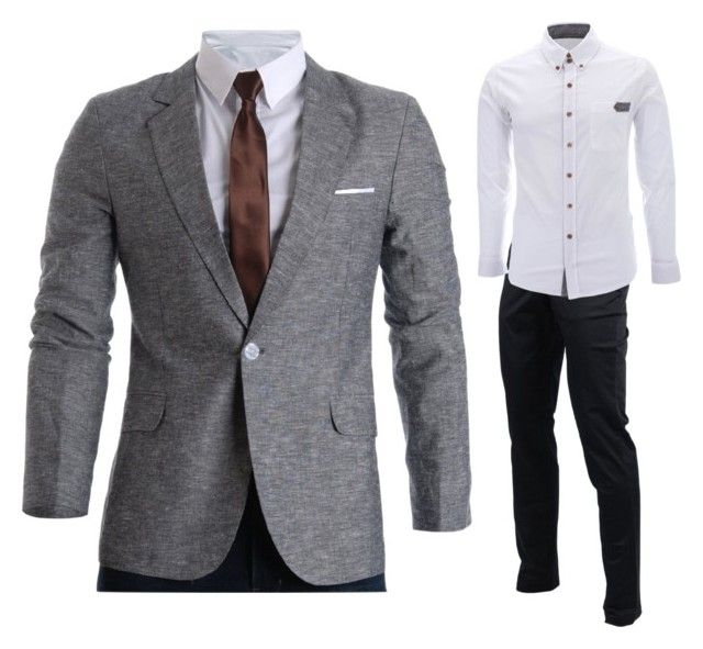 """Grey blazer outfits"" by flatseven on Polyvore"