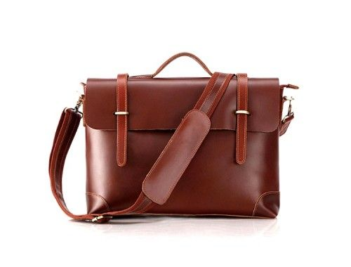 MINISTER: Classic Red Brown Leather Briefcase  A classic, professional, vintage red brown leather briefcase that will keep your style fresh and minimalist time after time.  This briefcase is the perfect balance of exclusivity and cool. An impressive clean briefcase, it maintains a vintage attitude with signature red brown leather craftsmanship and a great modern design.  Perfect for gadgets like Laptops, iPads, eReaders, etc.  £99