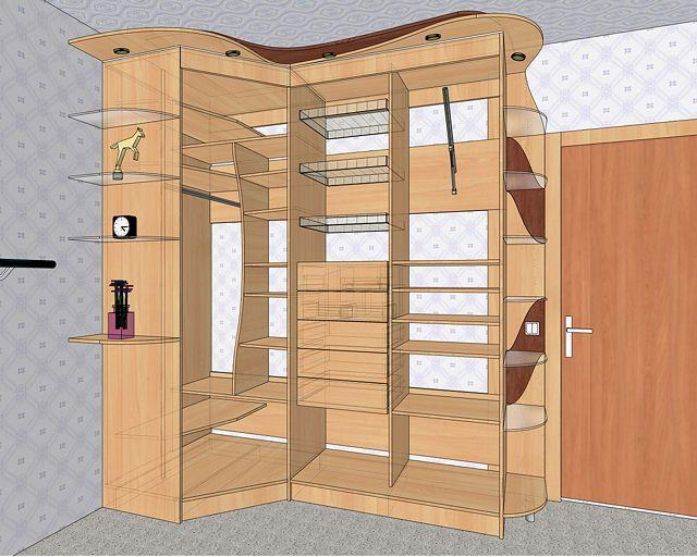 Сделать угловой шкаф из дерева своими руками