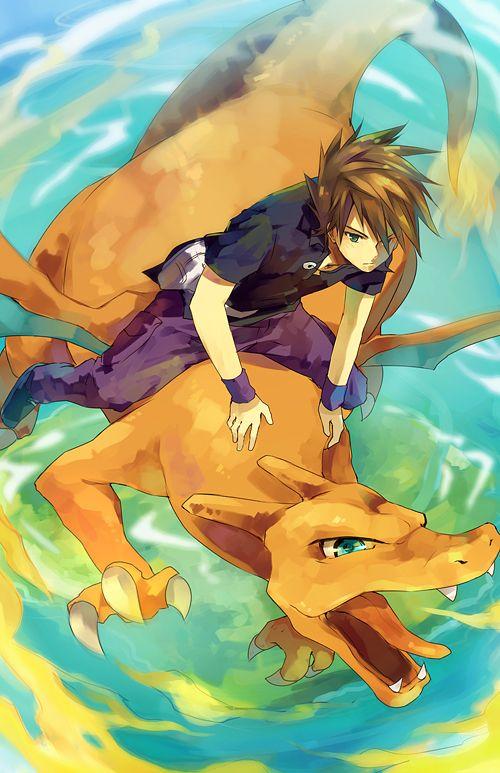 Blue and his Charizard #Pokemon