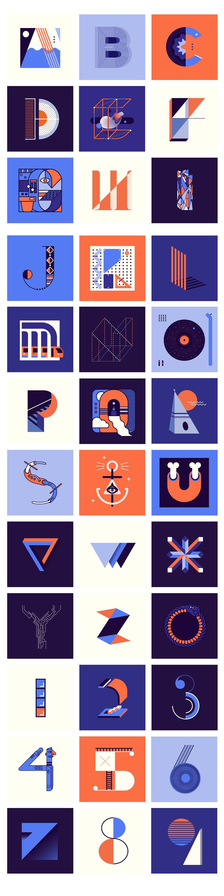 36 Days of Type is a project created by Nina Sans & Rafa Goicoechea that invites designers, illustrators and graphic artists to give ​their view on our alphabet.