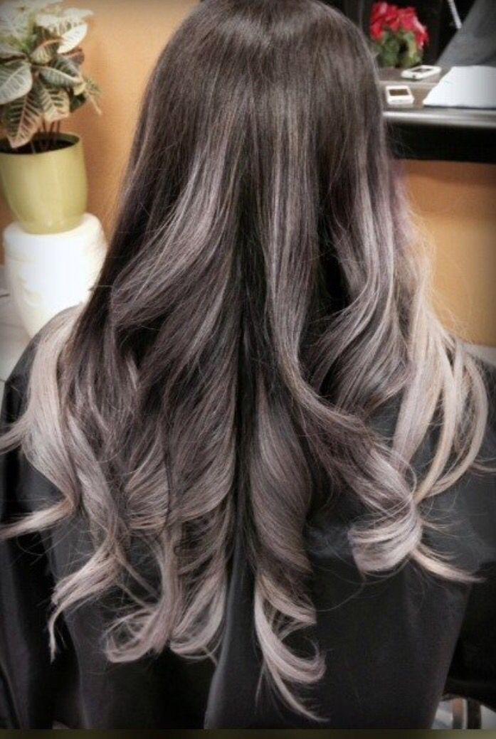 gray balayage hair hair pinterest cheveux ombr s ombr et gris. Black Bedroom Furniture Sets. Home Design Ideas