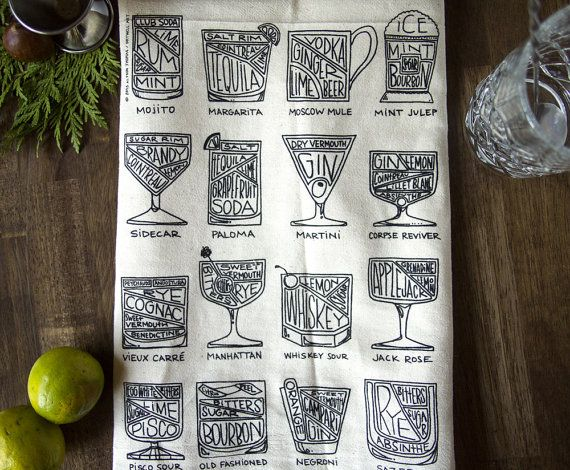 Hey, I found this really awesome Etsy listing at https://www.etsy.com/listing/171810267/cocktail-diagram-bar-towel