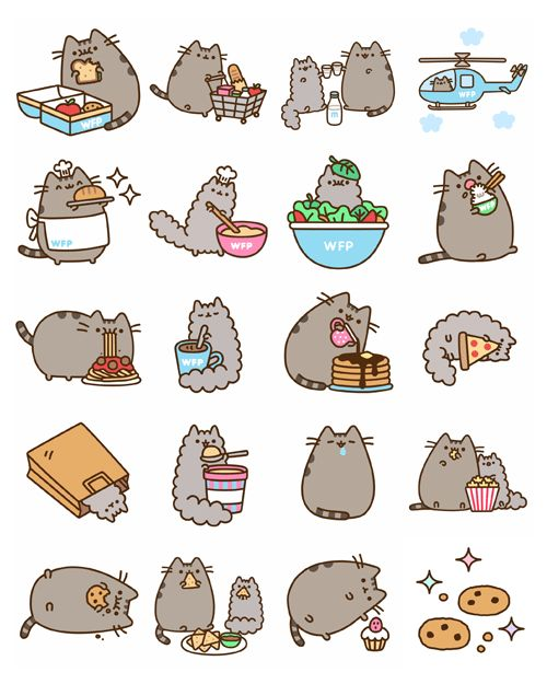 pusheen:  Celebrate your favorite foods and help the United Nations World Food Programme fight global hunger by sending your friends these b...