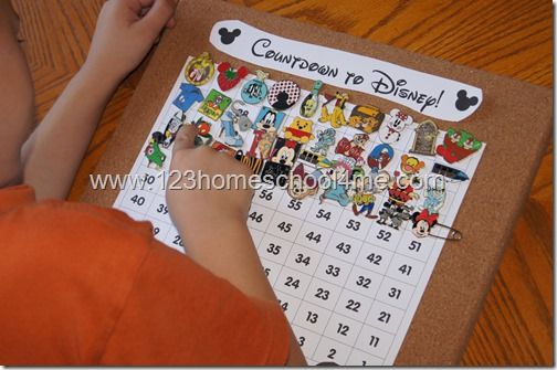 Disney World! 10 Disney Countdown Ideas and 2 FREE Disney Countdown Printables. These are such cute, clever ideas to start the Magic Kingdom fun at home!