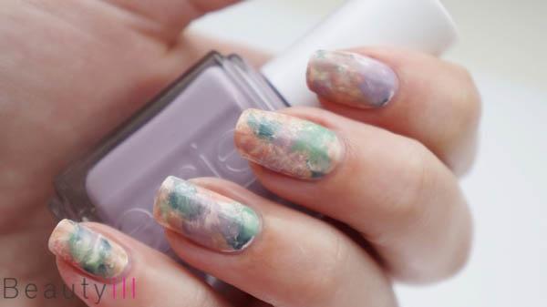 DIY Nail Art | Saran Wrap / Marble Nails ~ Beautyill | Beautyblog met nail art, nagellak, make-up reviews en meer!